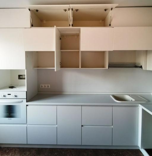 Белый кухонный гарнитур-Кухня МДФ в эмали «Модель 561»-фото6